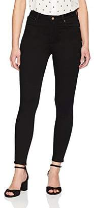 Denim Bloom Women's High Rise Supper Skinny Color Power Stretch Jean 30 Black