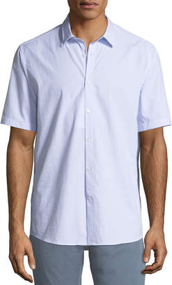 Salvatore Ferragamo Men's Textured Cotton Short-Sleeve Sport Shirt