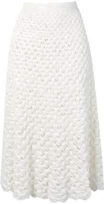 2090a0a8b7 L'Autre Chose tasselled crochet midi skirt