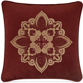 """J Queen New York Rosewood Burgundy 18"""" Square Decorative Pillow Bedding"""