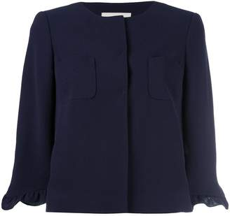 L'Autre Chose ruched sleeve jacket