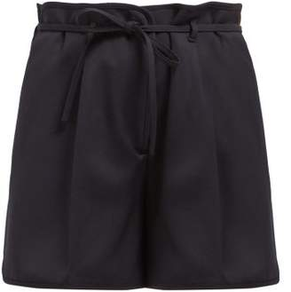 Jil Sander Giles Virgin Wool Shorts - Womens - Navy
