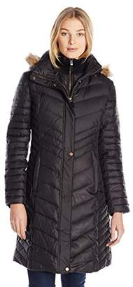 Marc New York by Andrew Marc Women's Karla Mid-Length Chevron Down Coat $73.82 thestylecure.com