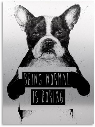 "Trademark Fine Art ""Being Normal Is Boring"" Large Canvas Wall Art"