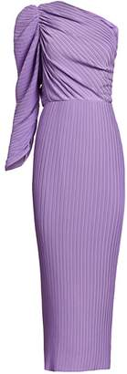 SOLACE London Rosalyn One-Shoulder Midi Dress