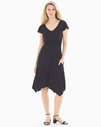 Soft Jersey Scarf Hem Dress
