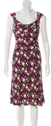 Diane von Furstenberg Silk Printed Midi Dress