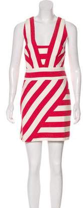 Milly Striped Sleeveless Mini Dress