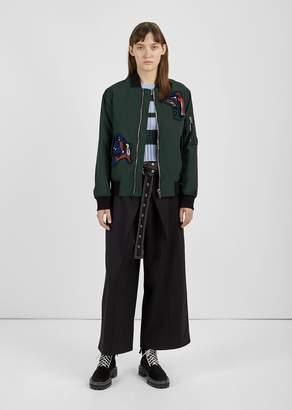 Proenza Schouler Patch Bomber Jacket Deep Pine