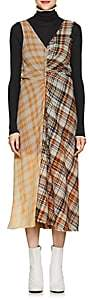 Acne Studios Women's Plaid Midi-Dress - Orange
