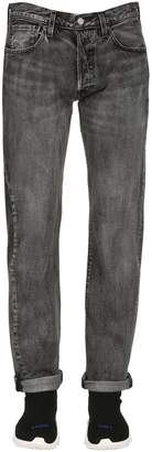 Levi's 501 Tapered Washed Stretch Denim Jeans