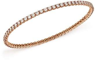 Roberto Coin 18K Rose Gold Bangle with Diamonds
