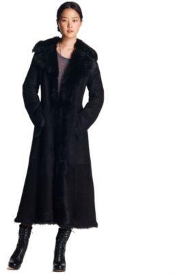 Toscana Shrearling Long Coat