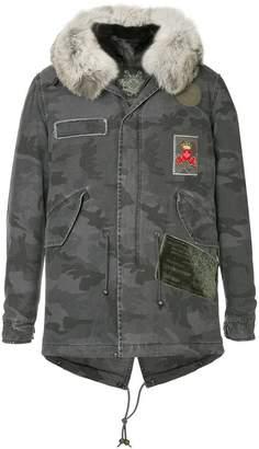 Mr & Mrs Italy camouflage print coat