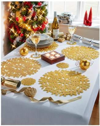 Very Metallic Placemats and Coasters in Gold