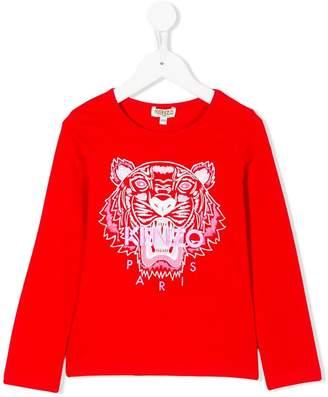 Kenzo tiger print longsleeved T-shirt