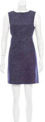 Tocca Metallic-Accented Wool Dress