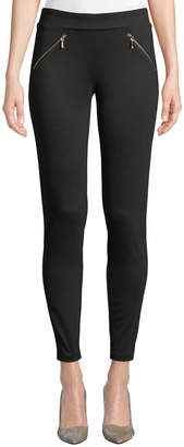 Nanette Lepore Nanette Miracle Zip-Pocket Ponte Leggings