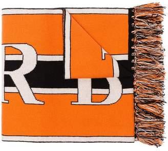 Burberry logo knit cashmere scarf