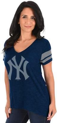 Majestic Women's New York Yankees Check the Tape Tee
