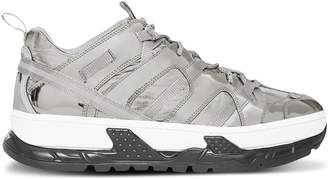 Burberry Metallic Leather and Nylon Union Sneakers