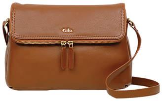 At John Lewis And Partners Tula Originals Medium Leather Double Zip Flapover Cross Body Bag