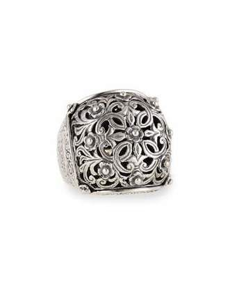 Konstantino Sterling Silver Domed Scroll Ring