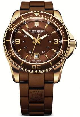 Victorinox Men's Maverick GS Rubber Strap Watch, 43mm