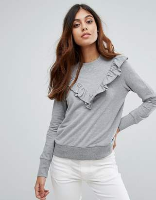 Vero Moda Ruffle Panel Long Sleeve Top
