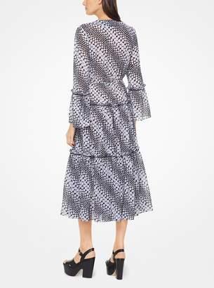 MICHAEL Michael Kors Floral Striped Georgette Dress