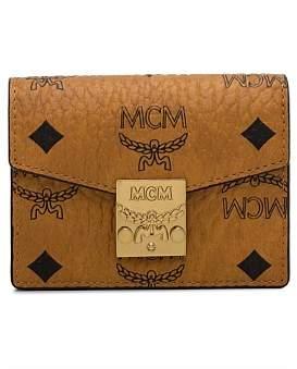 MCM Patricia Visetos Acordian Card Wallet
