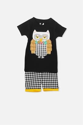 Cotton On Chloe Girls Short Sleeve PJ Set