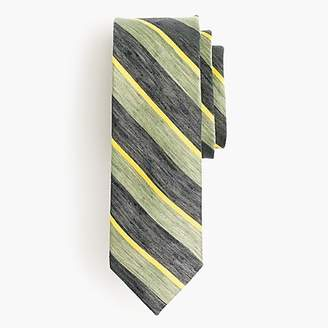 J.Crew Silk-linen tie in stripe