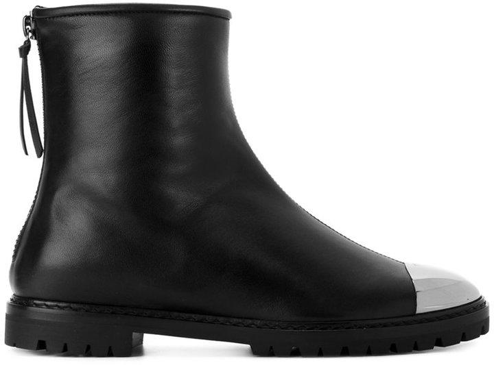 Giuseppe Zanotti Design silver tone hardware boots