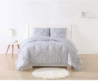 My World Stripe Pinch Pleat Comforter Set