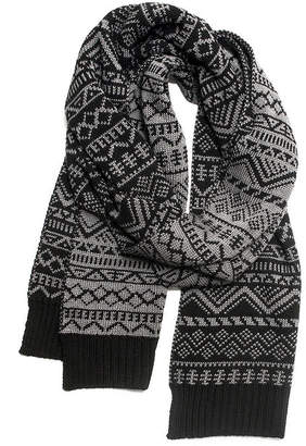 Muk Luks Men's Pattern Scarf