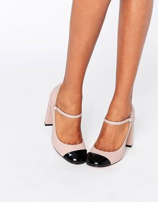 ASOS PRESTON Toe Cap Heels $48 thestylecure.com