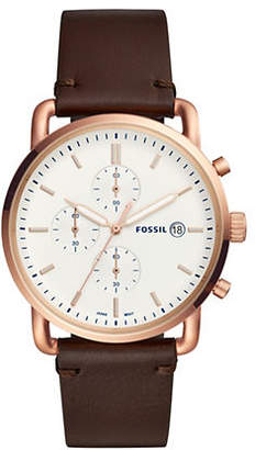 Fossil Commuter Chronograph Java Leather Watch