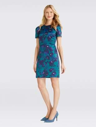 Draper James Cutout Floral Structured Dress