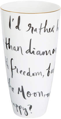 Kate Spade Daisy Place I'd Rather Be Vase - 9""