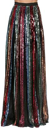 Elie Saab Sequined High Waist Long Skirt