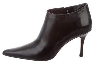 Lambertson Truex Leather Pointed-Toe Booties