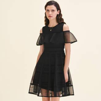 Maje Mesh sleeveless dress