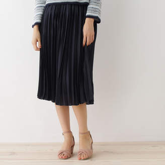 Couture Brooch (クチュール ブローチ) - クチュール ブローチ Couture brooch 【WEB限定プライス】デザインベルトプリーツスカート (ブルー系)