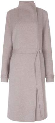 Joseph New Lima Wool And Cashmere-blend Belted Coat
