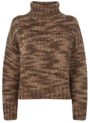 Brunello Cucinelli Cropped Turtle Neck Sweater