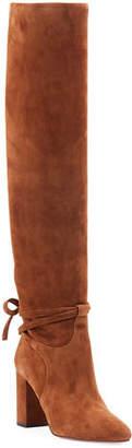 Aquazzura Milano Scrunched Knee-High Boots