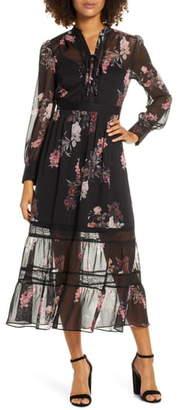 Ever New Pipa Lace & Chiffon Maxi Dress