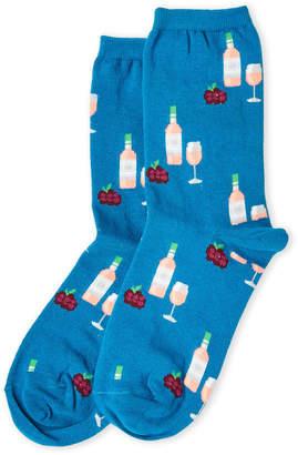 Hot Sox Teal Grapes & Wine Socks