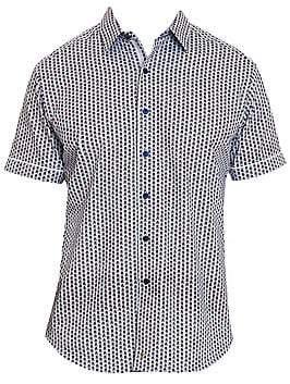 Robert Graham Men's Westward Geo Short-Sleeve Shirt